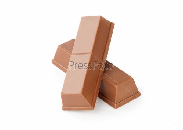 Фотография на тему Шоколад на белом фоне