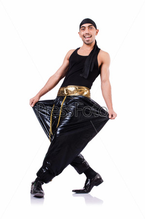 Фотография на тему Танцор хип-хопа, изолированный на белом