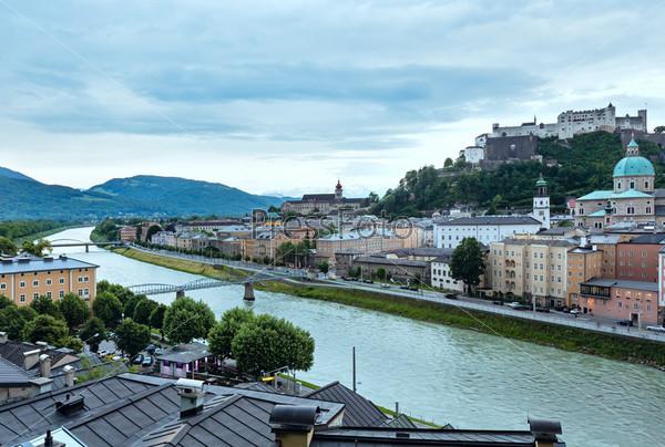 Вид на город Зальцбург (Австрия)