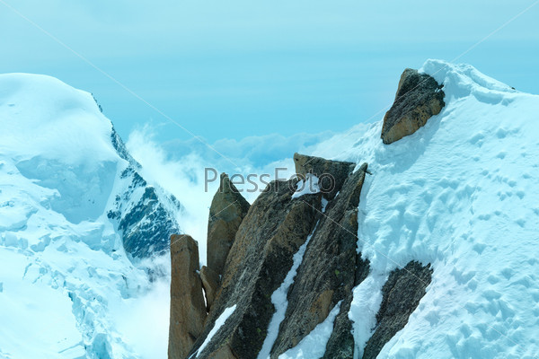 Гора Монблан (вид с горы Эгюий дю Миди, Франция)