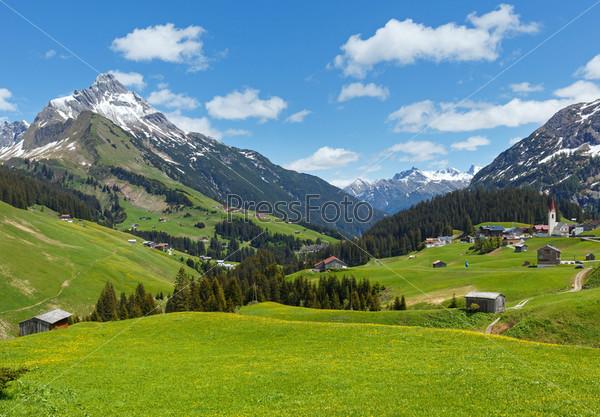 Фотография на тему Альпийский вид (Форарльберг, Австрия)