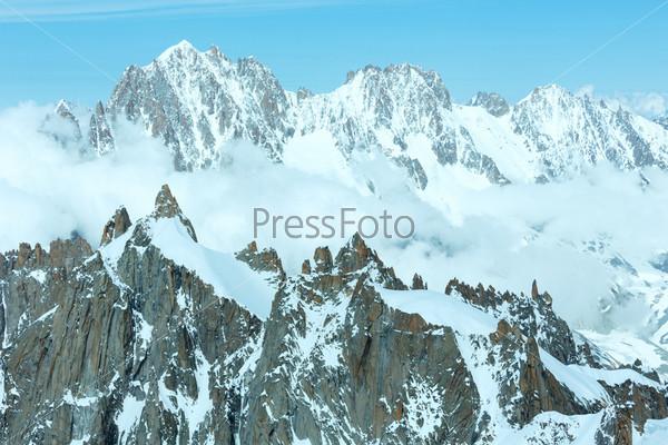 Фотография на тему Гора Монблан (вид с горы Эгюий дю Миди, Франция)