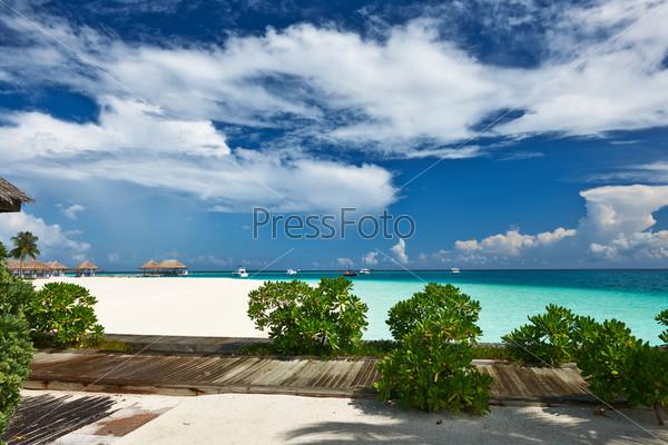 Красивый пляж, Мальдивы