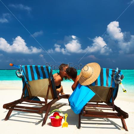 Фотография на тему Пара на пляже