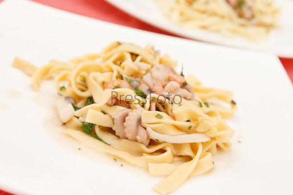 Фотография на тему Макароны с морепродуктами