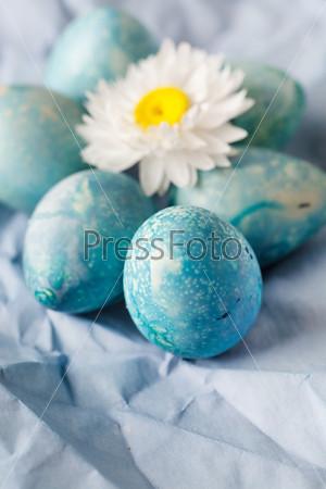 Фотография на тему Синие пасхальные яйца