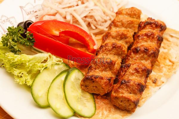 Фотография на тему Шашлык с овощами