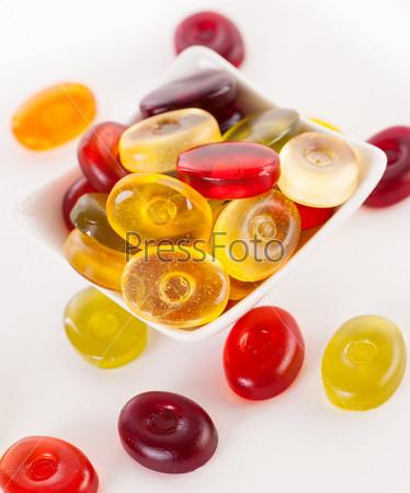 Фотография на тему Желейные конфеты на белом фоне