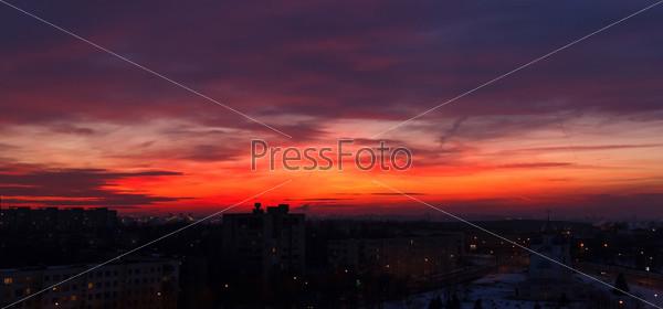 Фотография на тему Закат над городом
