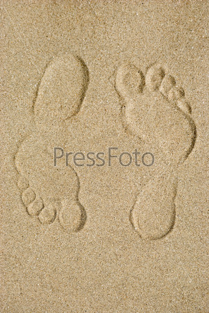 Фотография на тему Следы на песке