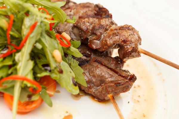 Фотография на тему Жареное мясо и овощи