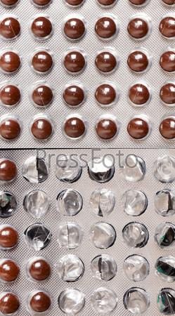 Таблетки в блистерной упаковке крупным планом