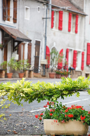 Улица с цветами