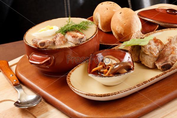 Традиционный суп с ребрышками