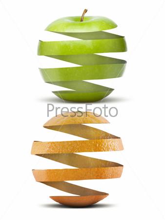 Форма яблока и апельсина