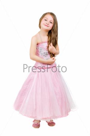 Веселая маленькая девочка