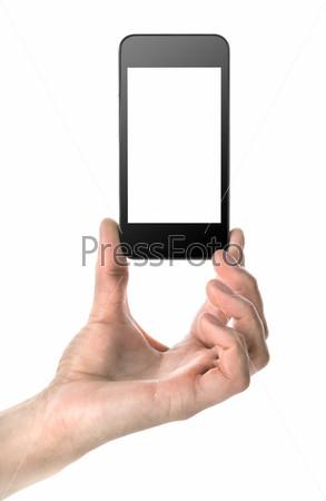 Фотография на тему Мобильный телефон в руке