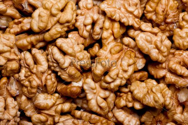 Грецкие орехи как фон