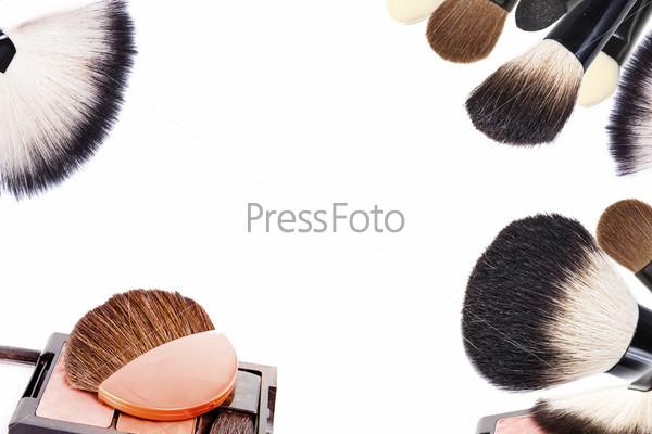 Фотография на тему Кисти для макияжа, коллаж