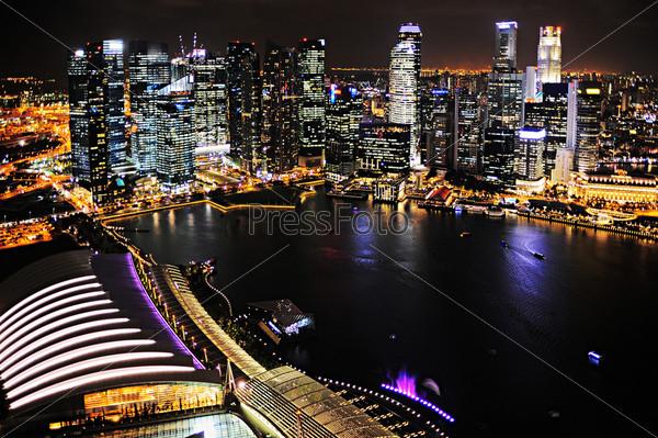 Фотография на тему Ночь в Сингапуре