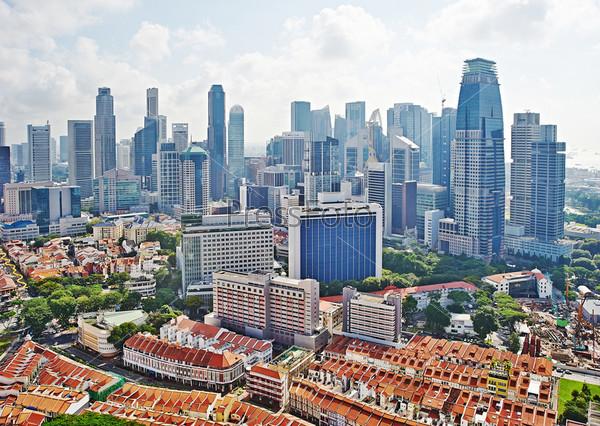 Фотография на тему Городской пейзаж Сингапура
