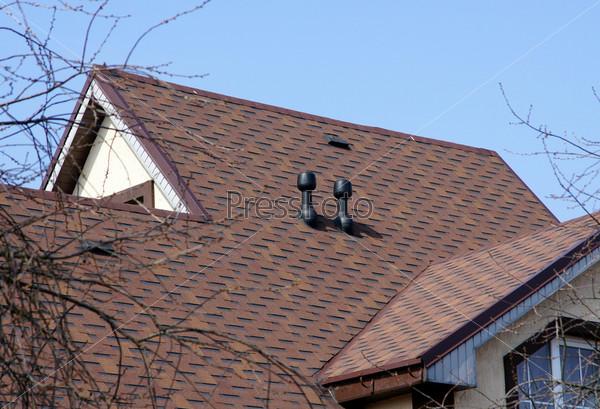 Коричневая крыша