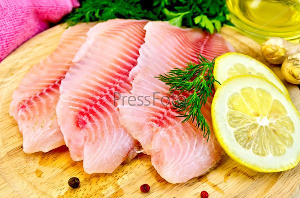 Филе тилапии с маслом и лимоном