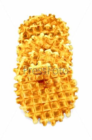 Фотография на тему Круглые золотистые вафли