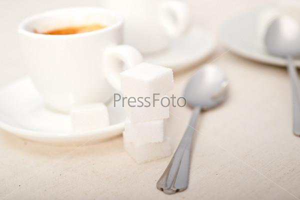 Фотография на тему Итальянский эспрессо и сахар