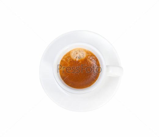 Итальянский эспрессо, изолированный на белом