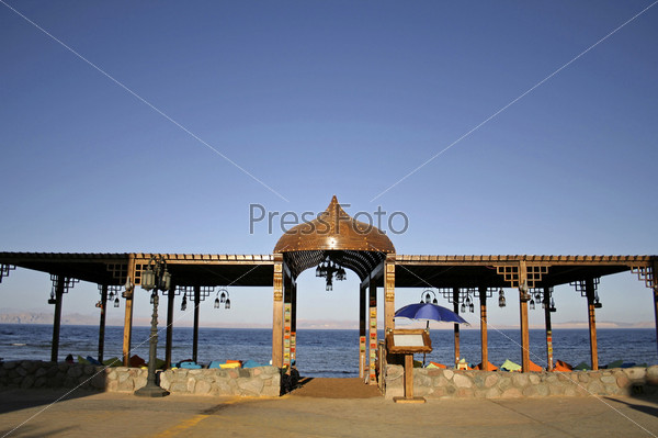 Ресторан на пляже, Дахаб, Красное море, Синай, Египет