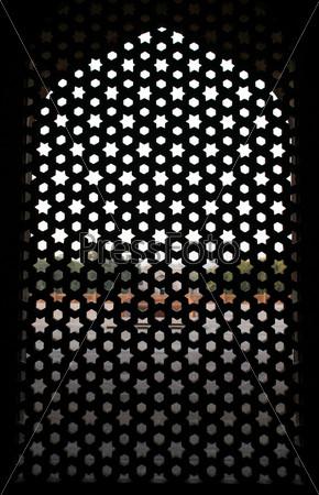 Окно в гробнице Хумаюна, Дели, Индия