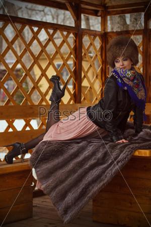 Фотография на тему Русская красавица в образе трэш