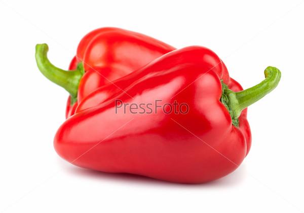 Фотография на тему Пара спелых красных сладких перцев