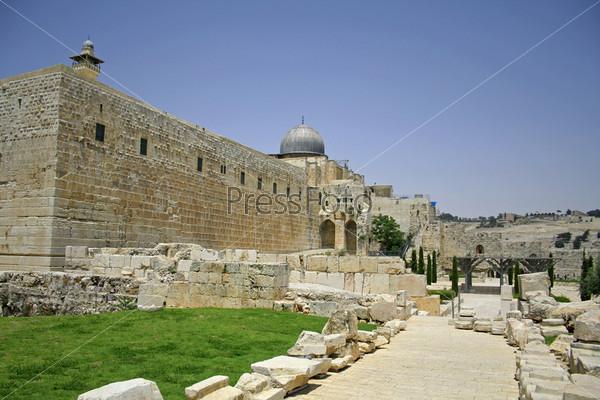 Западная и южная части Стены плача, Иерусалим, Израиль