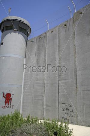 Фотография на тему Стены, отделяющие Израиль от Западного берега, Палестина, Израиль