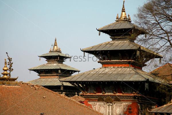 Две пагоды на площади Дурбар, Катманду, Непал