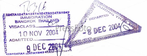 Виза в паспорте из Таиланда