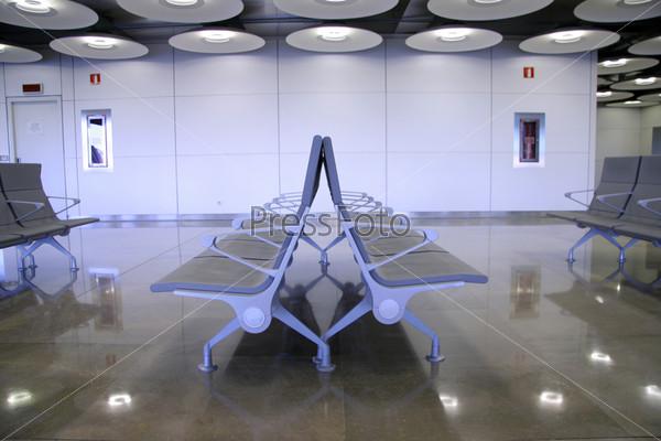Фотография на тему Зал ожидания в аэропорту, Мадрид, Испания