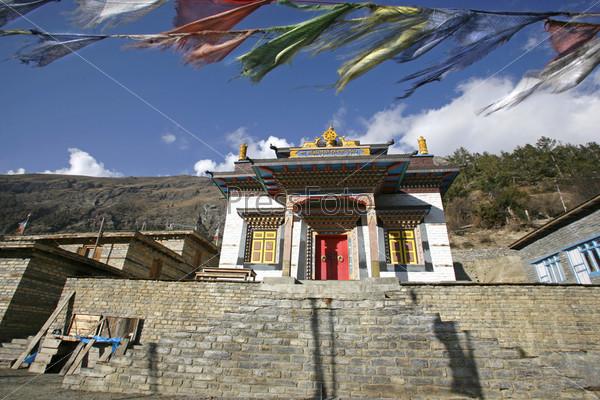 Монастырь в Верхнем Писанге, Аннапурна, Непал