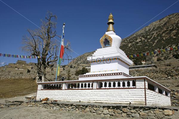 Фотография на тему Буддийский монастырь, Аннапурна, Непал