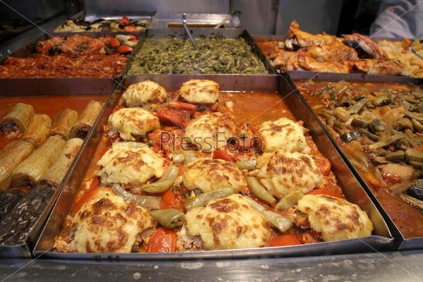 Блюдо с сыром, турецкий магазин быстрого питания