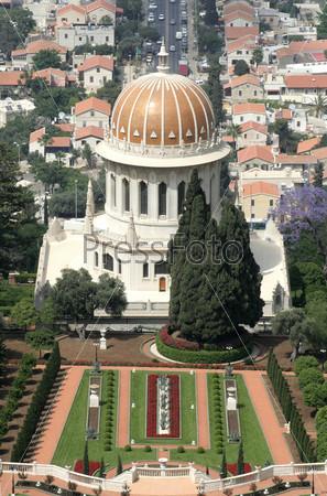 Вид на Бахайские сады, Хайфа, Израиль