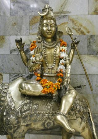 Статуя бога Шивы, Дели, Индия