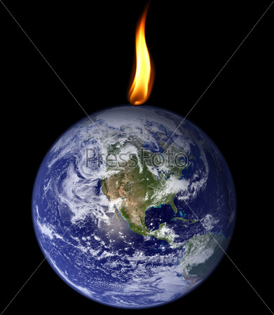 Фотография на тему Планета, пожираемая пламенем
