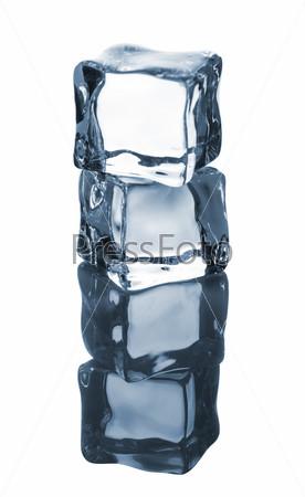 Фотография на тему Синие кубики льда