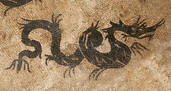 Дракон, мозаика