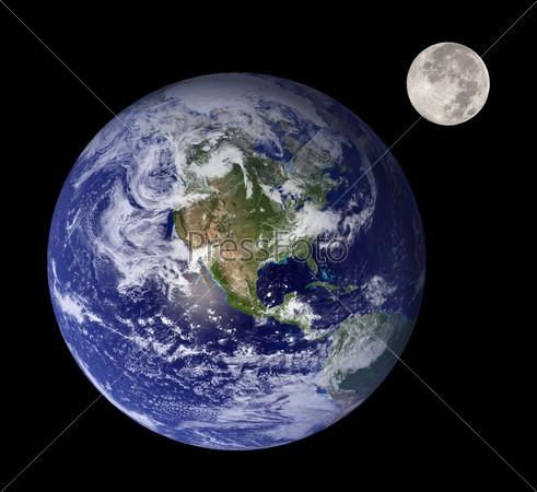 Фотография на тему Земля и Луна