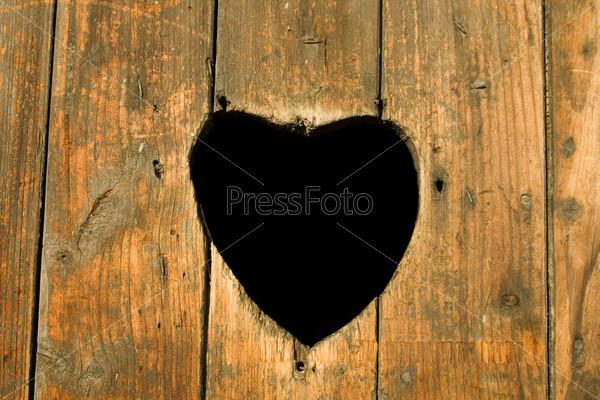 Фотография на тему Сердце на двери
