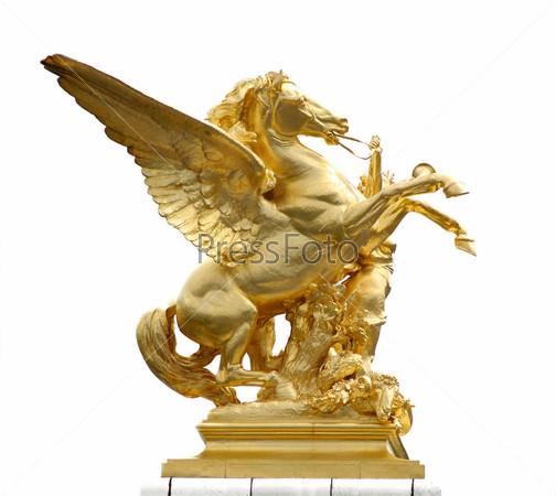 Статуя золотого коня на мосту, Париж